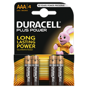 Duracell Plus Power Aaa Batteries 4s (MN2400B4PP)